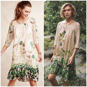 Anthro Vanessa Virginia Rainforest Silk Dress